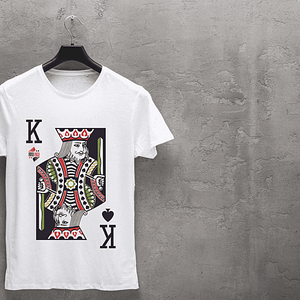Under Poker White T-Shirt King of Clubs